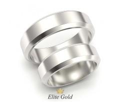 Обручальные кольца с лаконичным дизайном и скошенными краями артикул 5317