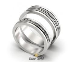 Авторские обручальные кольца Anemone с изящными линиями артикул 5331