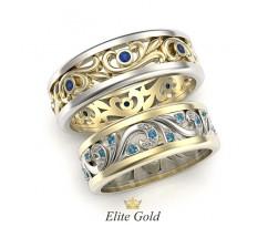 Обручальные кольца свадебники с узорами артикул: 5353