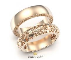 Ажурные обручальные кольца Ника без камней артикул:5402