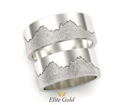 Обручальные кольца с рельефом гор артикул:5432