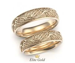 Обручальные кольца дерево жизни с комфортной посадкой артикул:5450