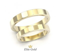 Обручальные кольца с гранями артикул: 5466
