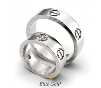 Обручальные кольца пара в стиле Cartier артикул:5473