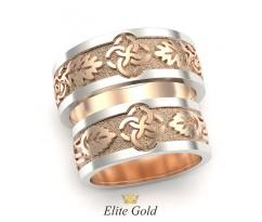 Обручальные кольца в стиле свадебник с разными рисунками артикул:5490