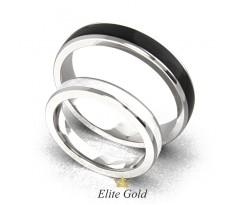 Обручальные кольца с эмалью без камней артикул:6124