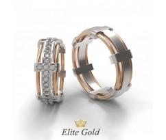 Обручальные кольца Eternal с камнями по кругу артикул: 6803