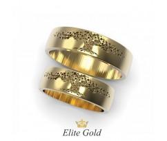 Обручальные кольца с фрезкой дерево жизни артикул 8460
