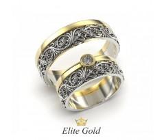 Винтажные обручальные кольца с узорами артикул:8782