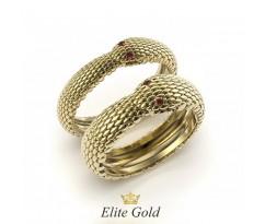 Кольца обручальные в форме змей с глазами артикул: 9461