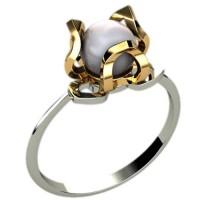 Модельное кольцо с жемчугом артикул: 1225