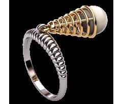 Кольцо с жемчугом, ручная работа артикул: 1347