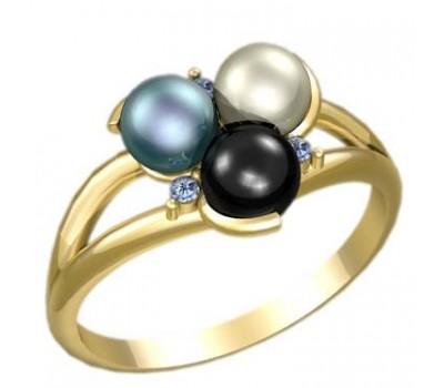 Кольцо с жемчугом, ручная работа артикул: 2286