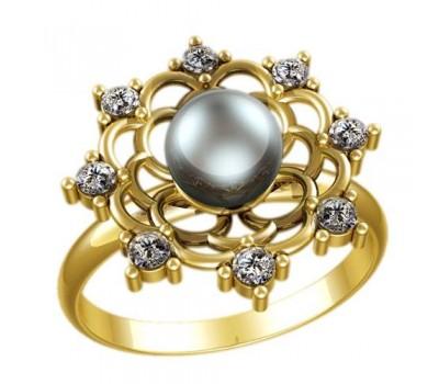 Кольцо с жемчугом, ручная работа артикул: 2335