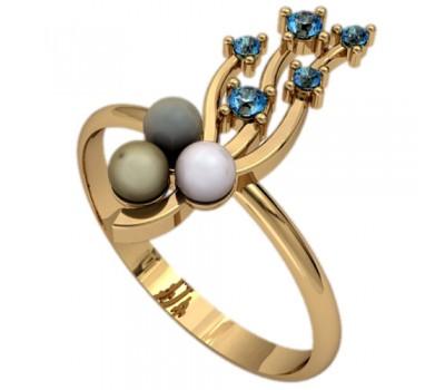 Кольцо с жемчугом, ручная работа артикул: 2356