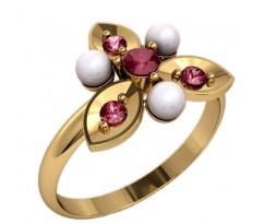 Кольцо с жемчугом, ручная работа артикул: 2358