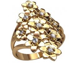 Массивное кольцо под заказ, ручная работа артикул: 2489