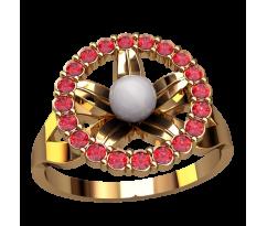 Кольцо с жемчугом, ручная работа артикул: 2496