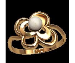 Кольцо с жемчугом, ручная работа артикул: 2550