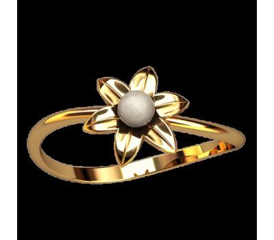 Кольцо с жемчугом, ручная работа артикул: 2563