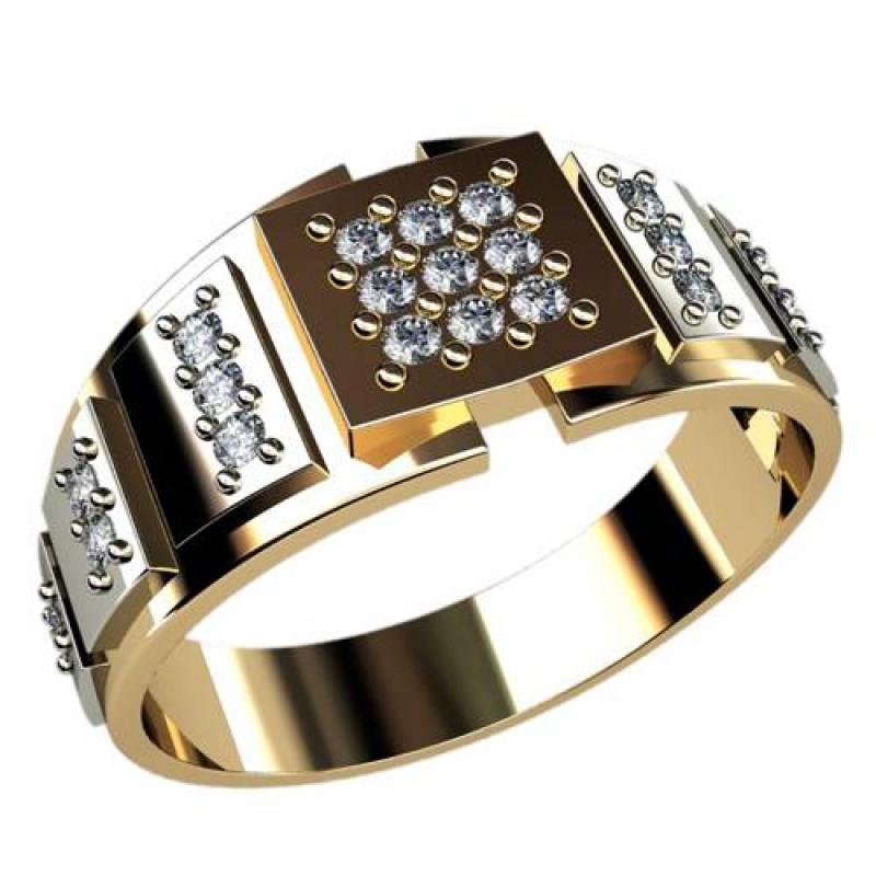 кольца с черным бриллиантами фото