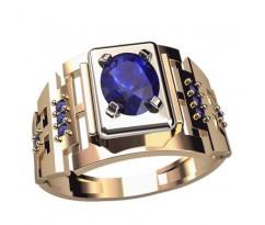 Мужское кольцо в форме цепи артикул: 3048