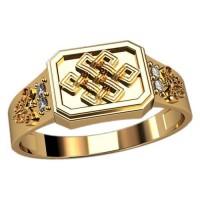 Мужское кольцо с узорами артикул: 3094