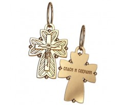 Крест (ладанка) авторская, ручная работа артикул: 5045