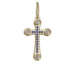 Крест (ладанка) авторская, ручная работа артикул: 5050