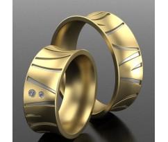Кольца на свадьбу парные MBL2166