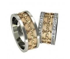 Кольца на свадьбу парные MBL02