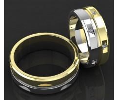 Кольца на свадьбу парные MBL1081