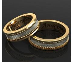 Кольца на свадьбу парные MBL1105 The Way of Love