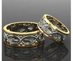 Кольца на свадьбу парные MBL1111 Elegance