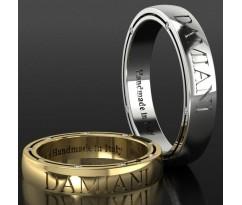 Кольца на свадьбу парные MBL1206 Damiani