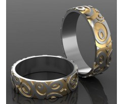 Кольца на свадьбу парные MBL2008