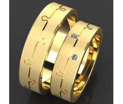 Кольца на свадьбу парные MBL2013 Puzzle of Love