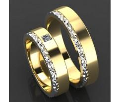 Кольца на свадьбу парные MBL2015