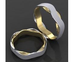 Кольца на свадьбу парные MBL2017