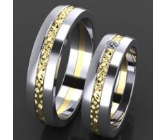 Кольца на свадьбу парные MBL2024