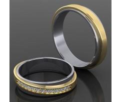 Кольца на свадьбу парные MBL2025