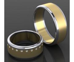 Кольца на свадьбу парные MBL2027