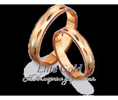 Кольца обручальные парные артикул: 411063D