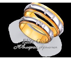 Кольца обручальные парные артикул: 4411413D