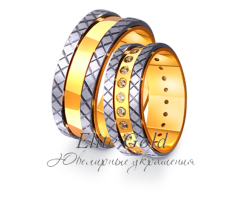 Кольца обручальные парные артикул: 4411544D
