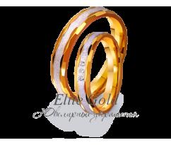 Кольца обручальные парные артикул: 4411639D