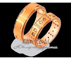 Кольца обручальные парные артикул: 411213D