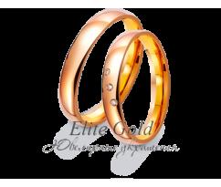 Кольца обручальные парные артикул: 411235D