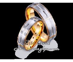 Кольца обручальные парные артикул: 412215D