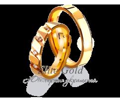 Кольца обручальные парные артикул: 4111070D